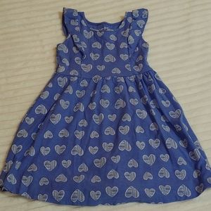 🎁Jumping beans dress periwinkle blue w/hearts sz4